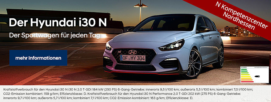 Hyundai i30N, N Kompetenzcenter Nordhessen - Autohaus Hetzler