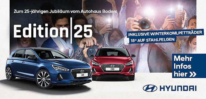 Hyundai i30 leasen, beim Hyundai Herbstfest im Autohaus Boden